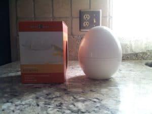 The nordicware microwave egg boiler shapes like an egg.