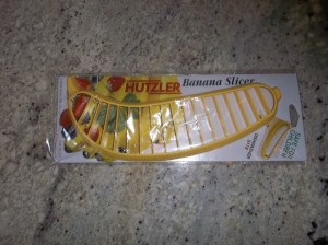 The Hutzler banana slicer still in the package.