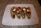 This is a front view of the tacos with taco poppers