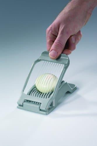 westmark egg slicer slicing through egg