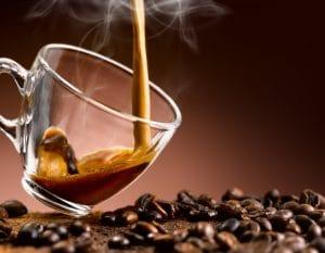 Fresh brewed espresso.