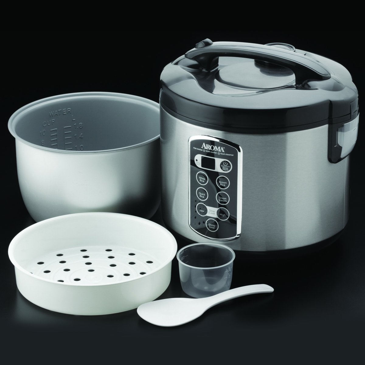 Aroma ARC-2000asb Professional 20-Cup (Cooked) Cool Touch Rice ...