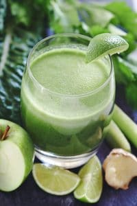 Healthy green juice.