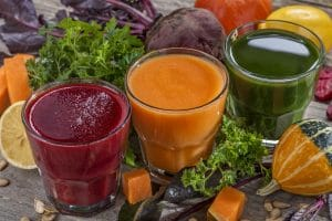 Fresh and healthy smoothie and juice. Mix fruits and vegetables
