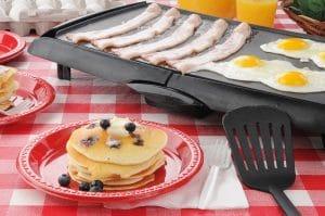 Hearty Breakfast on old school griddle.