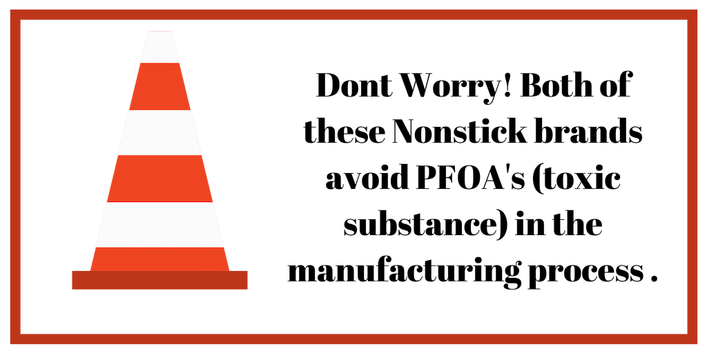 This is a graphic explaining that there are not any PFOA's (a toxic substance) Don't worry - no PFOA's