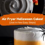 air fryer Halloween cakes Pinterest pin