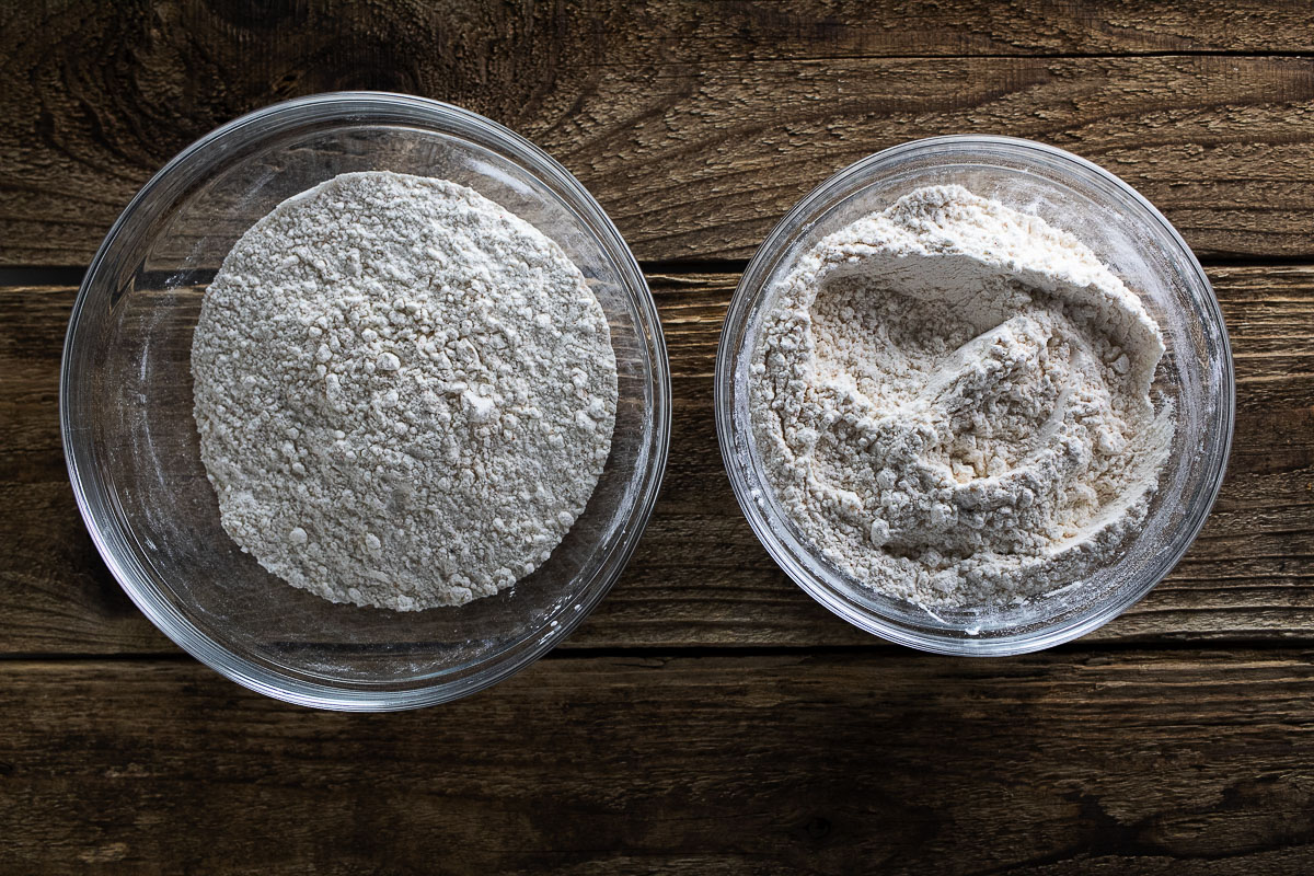 Seasoned flour mixture for our better than Texas Roadhouse fried pickles.