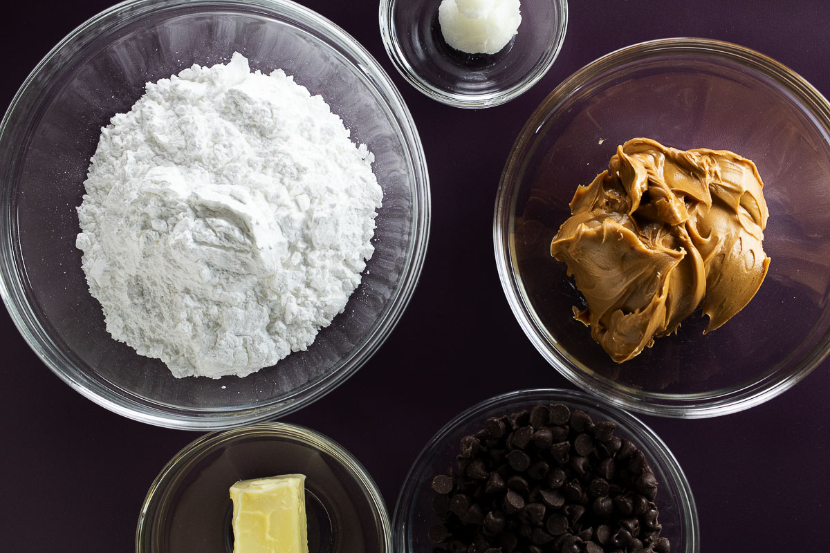 These are all of the ingredients that you need to make these delicious better than Reese's peanut butter balls.