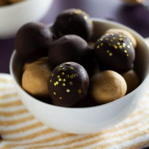 This is a featured image for our old fashioned peanut butter balls.