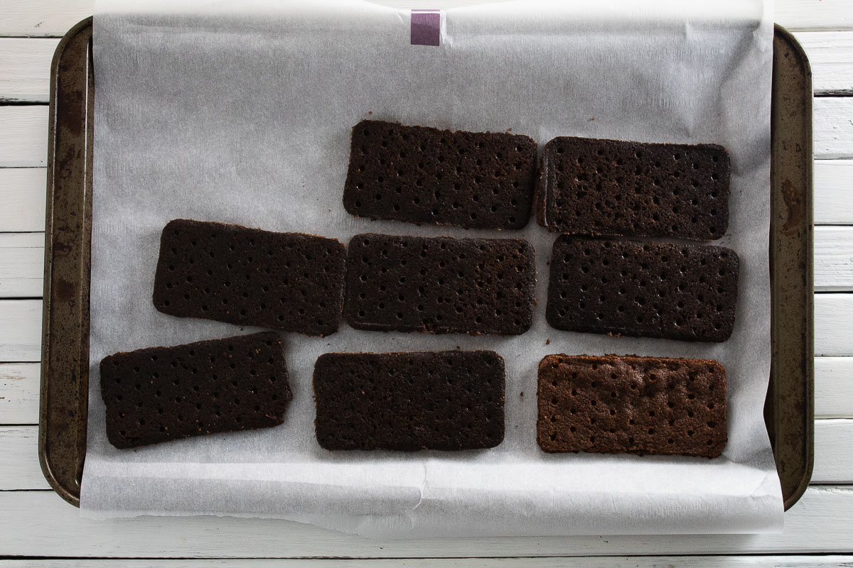 This is an image of the s'mores ice cream sandwich cut out.