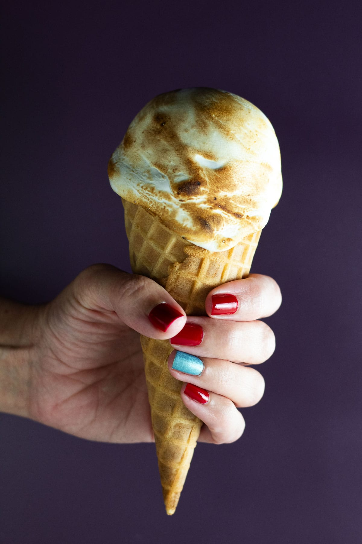 This is an image of the absolutely unbelievably delicious sweet potato pie ice cream with toasted marshmallow.